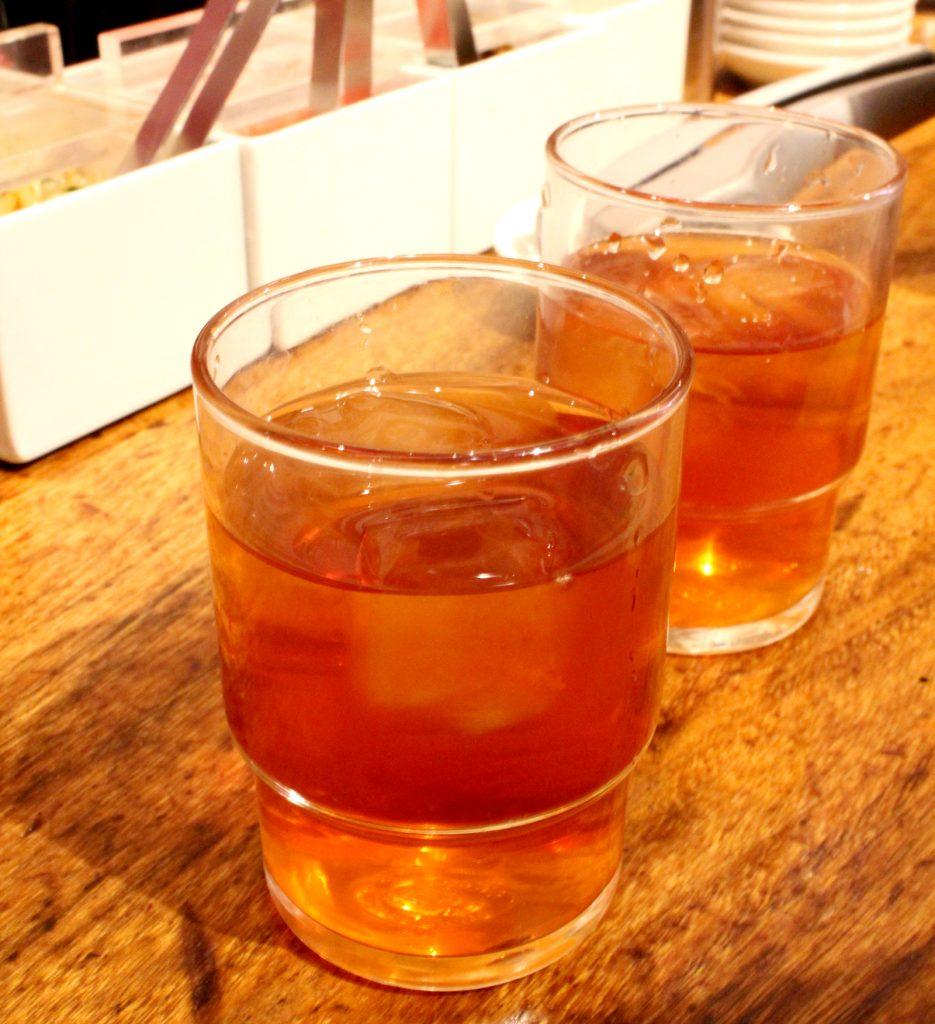 Ippudo Ginza: green tea
