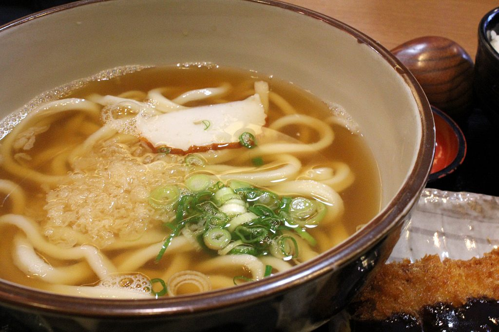 Pork cutler set B (tonkotsu sauce) - udon with broth