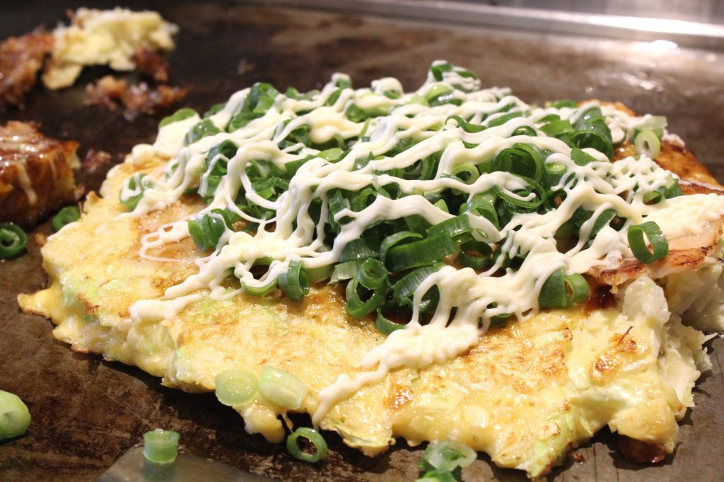 Pork and Spring Onions Okonomiyaki