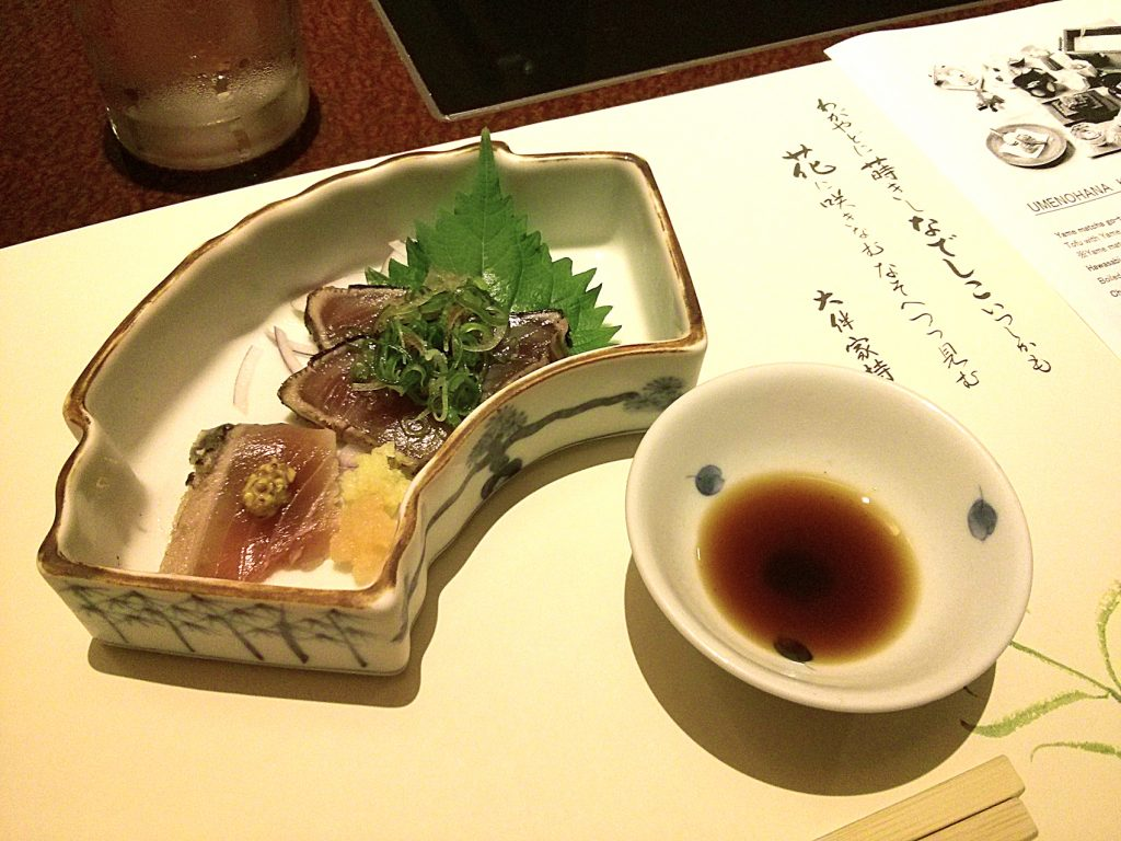 Katuo no tataki (Sashimi - Bonito)