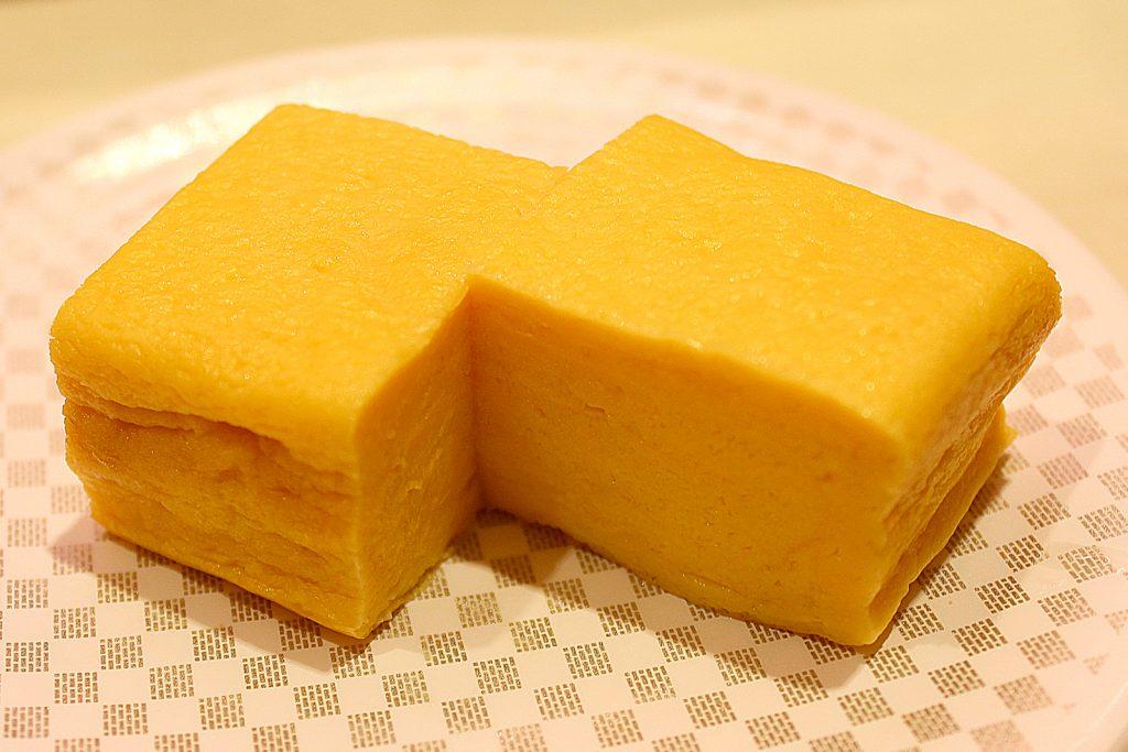 Thick sliced omelette