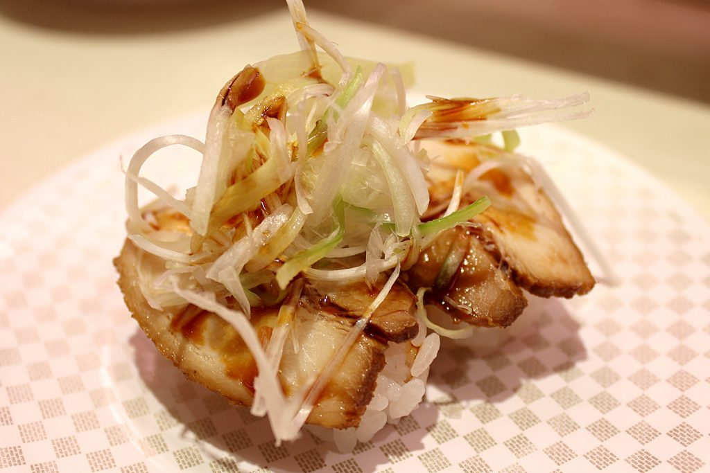 Pork slices with green onion