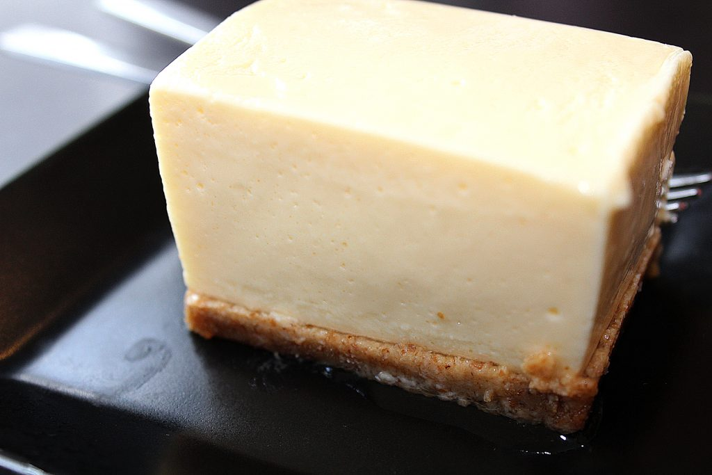 Soy milk cheesecake.