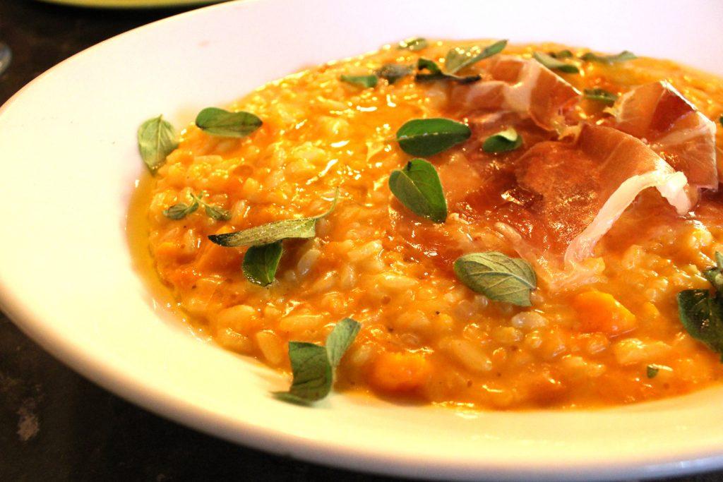Albero-di-lemone - Main: Roast pumpkin, prosciutto, fontina, oregano risotto.