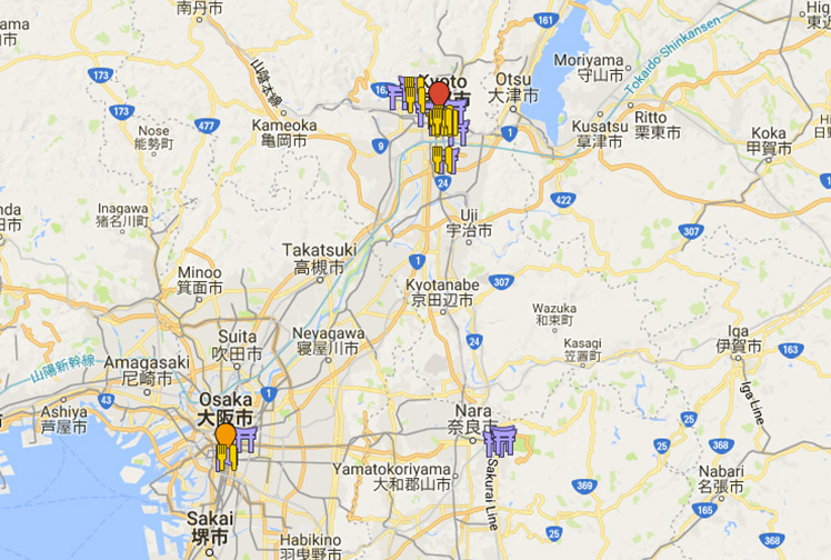 My itinerary for 5 days in Kyoto.