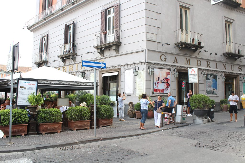 Caffè Gambrinus - entrance.