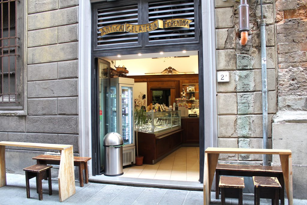 Antica Gelateria Fiorentina - entrance.