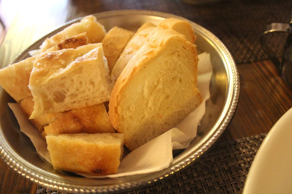 Italian bread and focaccia.