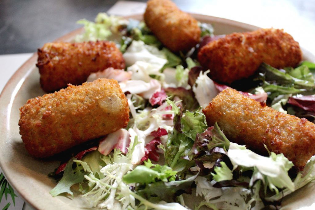 Assorted Croquetes - Ham, Mushrooms, Cheese, Tofu & Leeks.