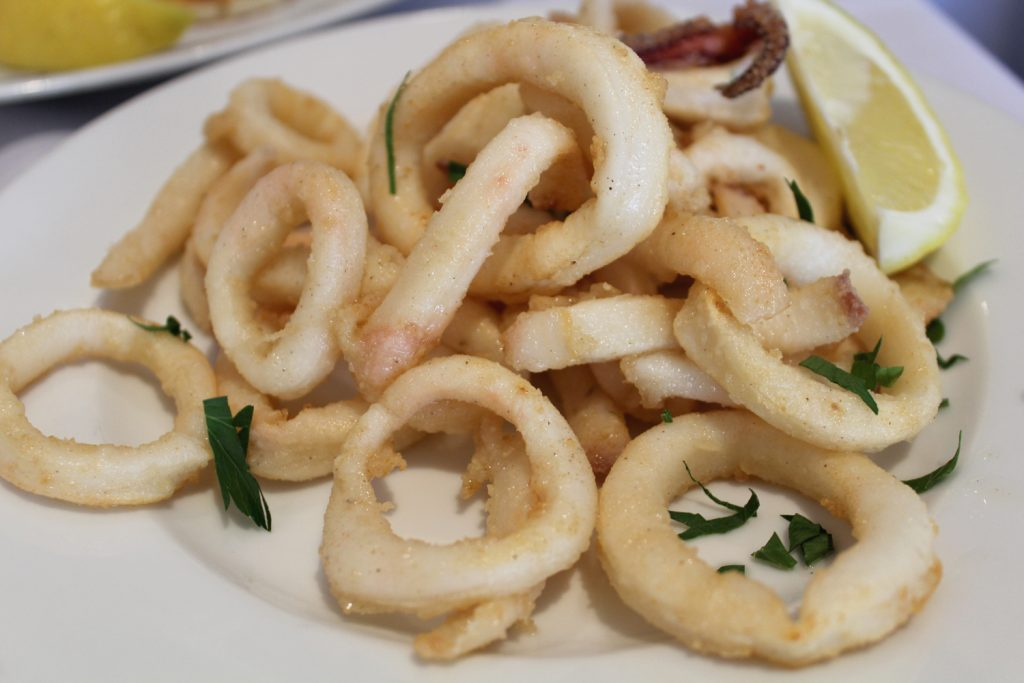 Pan-fried calamari.