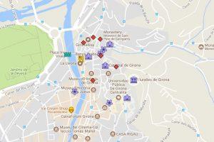 Girona itinerary map