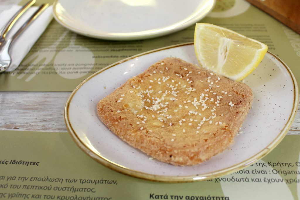 Saganaki - deep fried cheese.