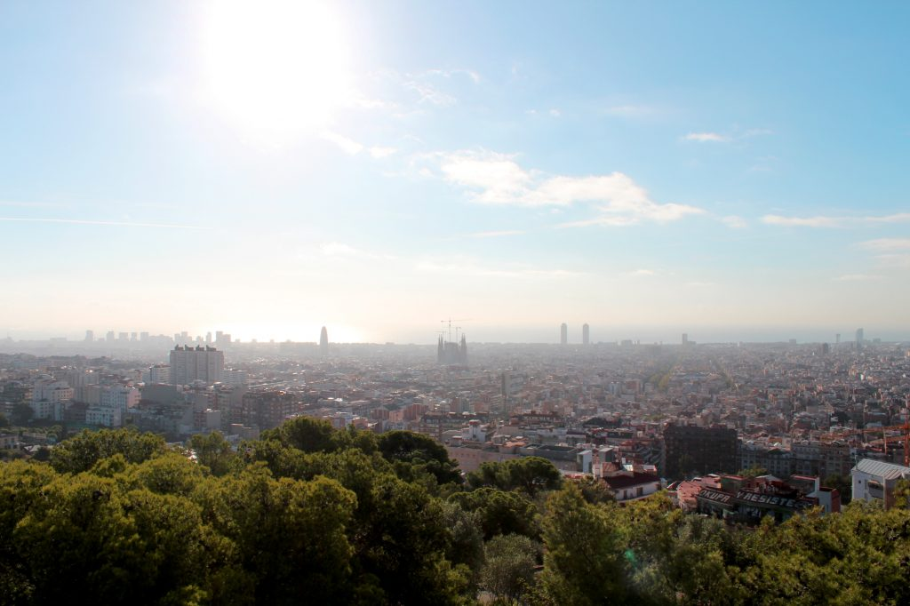 Can you spot La Sagrada Familia?