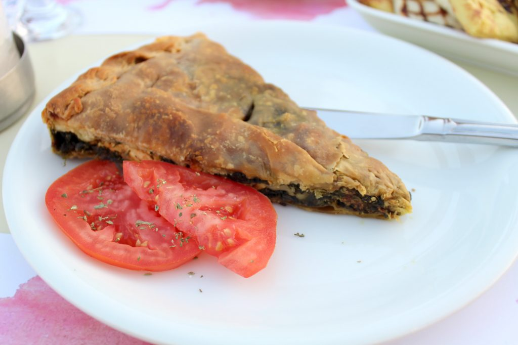Spanakopita - traditional greek spinach pie with homemade fillo pastry.
