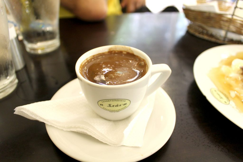 Greek coffee.