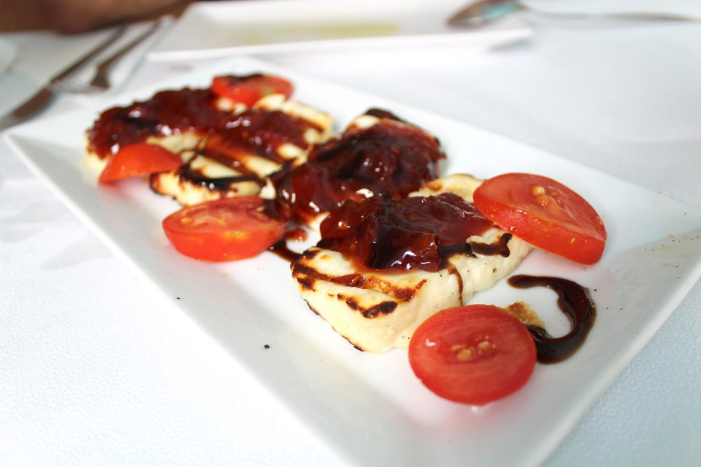 Grilled Halloumi with tomato marmalade