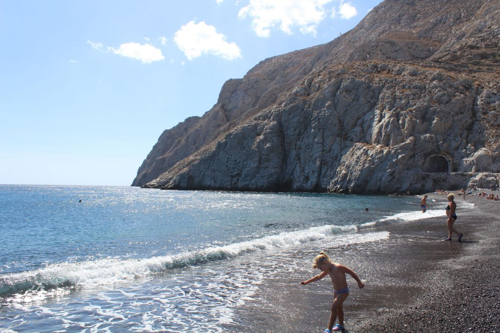 Kamari beach.